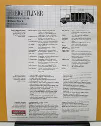 freightliner series 70 business class refuse truck specification sheet