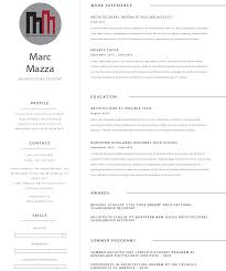 Resume For Architecture Student Resume Marc Mazza U0027s Portfolio