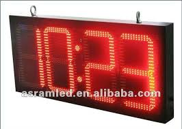 waterproof outdoor led digital traffic time clock timer countdown