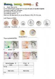 english teaching worksheets english money