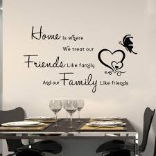 online get cheap wall quotes friends family aliexpress com 45 60cm home treat friends like family quote art vinyl wall stickers decals welcome home