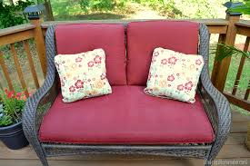 How To Spray Paint Patio Furniture Faded Chair Cushions Refreshed With Spray Paint