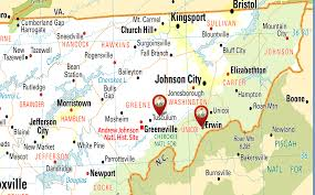 Johnson City Tennessee Map by Our Locations