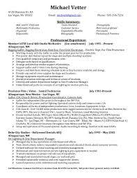 Sample Entry Level It Resume by Vetter Michael Resume