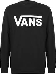 vans sweater crew sweater black