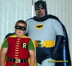 father and son as batman and robin costume fail