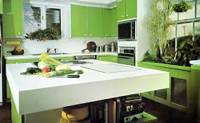 Eco Kitchen Design Green Kitchen Enchanting Awesome Green Kitchen Design With White