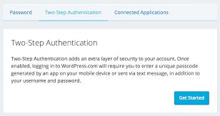 two step authentication u2014 support u2014 wordpress com