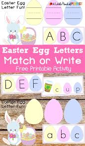 easter egg letter match free printable activity for kids