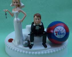 wedding cake topper oklahoma city thunder okc basketball