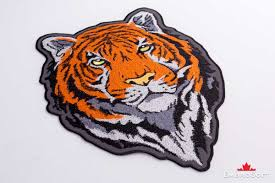 Flag Of Bengal Head Of Bengal Tiger Embroidered Patch Embrosoft