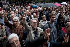 violence erupts as catalans vote on a referendum for independence