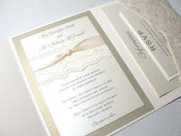 wedding invitation pockets wedding invitations folder open view of our modern silk folder
