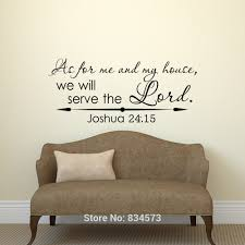 joshua 24 15 as for me and my house wall art stickers decal home joshua 24 15 as for me and my house wall art stickers decal home diy decoration wall mural removable bedroom decor wall stickers 57x135cm