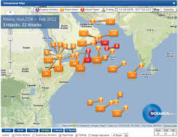 Horn Of Africa Map by Piracy U0026 Robbery At Sea Incidents Feb 2012