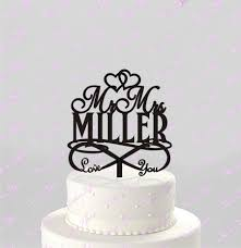 infinity cake topper you for infinity wedding cake topper personalized with last
