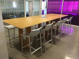 furniture office meeting room with rectangle black wooden
