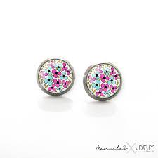 earrings for sensitive ears titanium jewelry earrings for sensitive ears pink turquoise