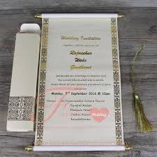 Scroll Invitation Cards The Diary Of Customer U0027s Visiting