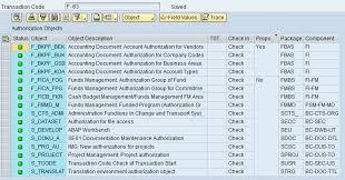 sap t code description table object and transaction code sap