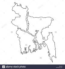 World Outline Map Outline Map Of Bangladesh Stock Photo Royalty Free Image