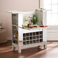 Wine Bar Cabinet Furniture Mirage Mirrored Fold Out Wine Cabinet Kitchen Dining