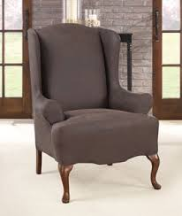 Leather Wingback Chair Ultimate Stretch Faux Leather Wing Chair Cover