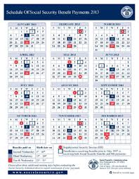 social security benefits table 2013 social security disability ssi benefits pay calendar