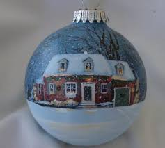 hand painted custom christmas ornaments from photo
