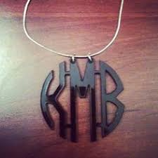my monogram necklace clear engraved acrylic monogram necklace with script or