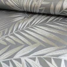 precious metals ardita leaves gunmetal wallpaper metallic silver