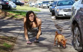 Transvestite Meme - just your average legless transvestite walking a dog imgur