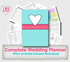 downloadable wedding planner wedding planner kit pdf digital printables for planning binder