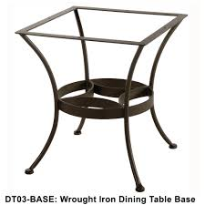 Ow Lee San Cristobal by Wrought Iron Patio Dining Table
