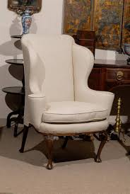 Queen Anne Wingback Chair Leather 18th Century English Queen Anne Walnut Wing Chair With Shell