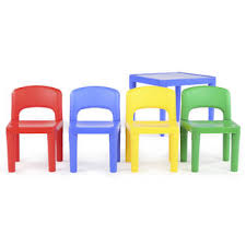 tot tutors table and chair set tot tutors kids plastic table and 4 chairs set primary colors