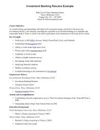 Sample Profile Resume Investment Banking Profile Resume Resume For Your Job Application