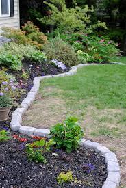 creative design river rock garden edging ideas gardening garden