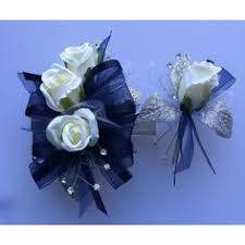 Royal Blue Corsage And Boutonniere Royal Blue Corsage U0026 Boutonniere Set Prom By Florescencebydesign
