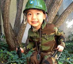 Boys Army Halloween Costume Army Soldier Costume Kit Child Costume Kids Costumes
