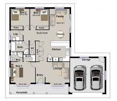 cool house plan 3 bedroom single garage 3 bedroom house plans