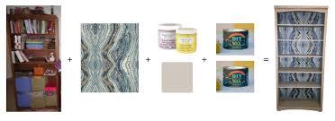diy bookshelf transformation with wallpaper hanover avenue