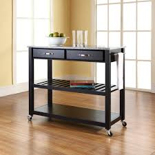 crosley solid granite top kitchen cart island with optional stool