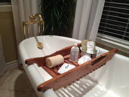 bath tray bathroom awesome wooden bathtub caddy design reclaimed