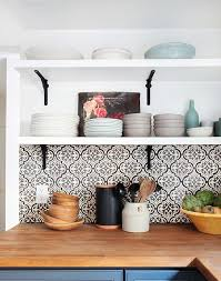 Wood Kitchen Shelves by Before And After Modern Spanish Kitchen P A T T E R N