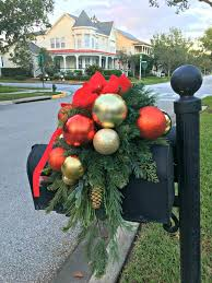Christmas Mailbox Decoration Ideas Christmas Christmas Mailbox Decorations Swags Michaelschristmas