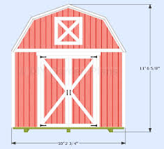 Diy 10x12 Storage Shed Plans by 10 U0027x12 U0027 Gambrel Shed Plans With Loft