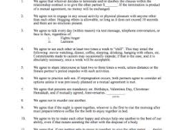 personal relationship contract template archives find word templates