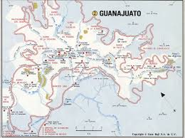 Map Of Central Mexico by Guanajuato City Road Mapfree Maps Of Us