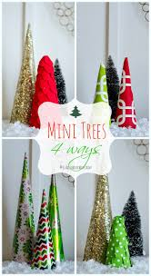 christmas craft idea mini trees